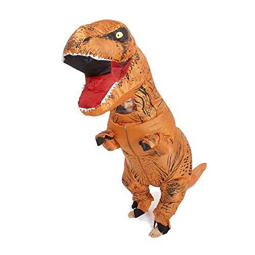 Y&M Kostüm Jurassic World T-Rex Aufblasbares Kostüm für Erwachsene mit Multicolor,Orange,Adult (Orange Trex Kostüme Für Kinder)