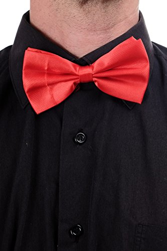 (DRESS ME UP Halloween Karneval Fliege Bowtie Dompteur Zirkusdirektor Rot W-071R-red)