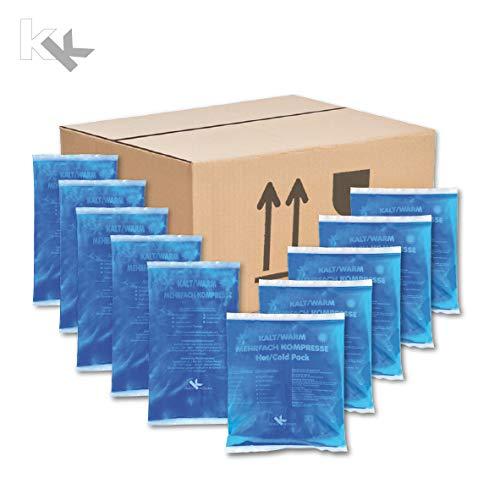 KK-Hygiene Kalt-Warm Kompressen Set Mehrfachkompressen 10 teiliges Set mit 2 verschiedenen Größen (5x Größe: 16 x 9 cm, 5x Größe: 13 x 14cm) mikrowellengeeignet - Kühlschrank Brust, Gefrierfach Mit