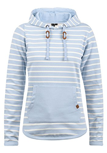 BlendShe Carina Damen Hoodie Kapuzenpullover Pullover Mit Kapuze, Größe:L, Farbe:Skyway (20241) -