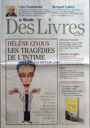 MONDE DES LIVRES (LE) du 08/09/2006 -
