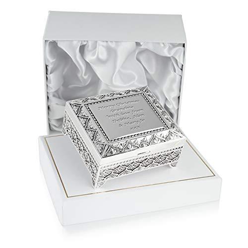 Grandma Christmas Gift, Engraved Silver Plated Trinket Box in a Satin Lined Presentation Box, Grandma Gift Ideas