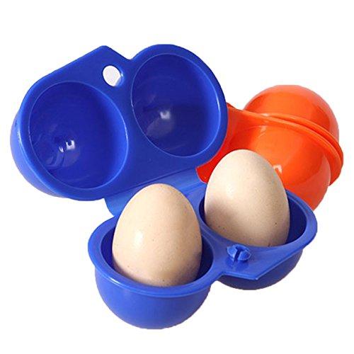 Lalang Tragbare Eierbehälter Eierträger, Eieraufbewahrung Eier Storage Ideal für BBQ,Picnik draußen (Blau)