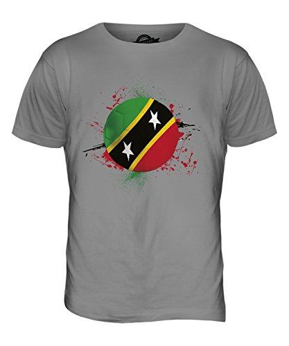 CandyMix St. Kitts Und Nevis Fußball Herren T Shirt Hellgrau
