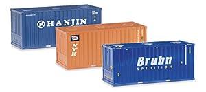Herpa 076661-Miniatura Modelo-Bulk Container Juego de 20Pulgadas
