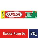 Corega - Crema Fijadora para prótesis dentales, extra fuerte, sabor a menta fresca - 70 gr