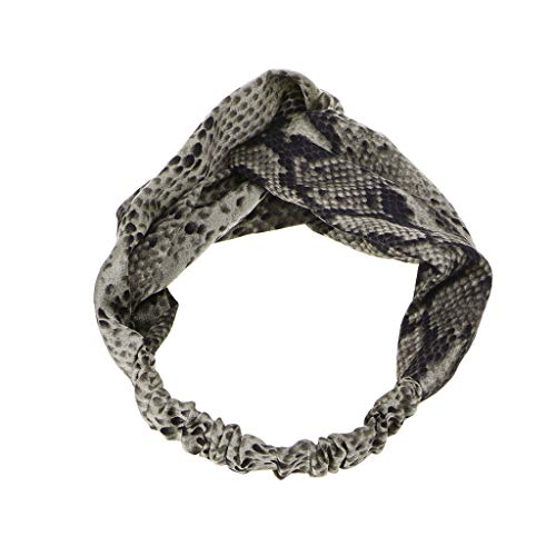 FURU Damen Stirnbänder Frauen-elastisches Stirnband Chic-Schlangen-Mode-Haarband Cross Knot Headwrap