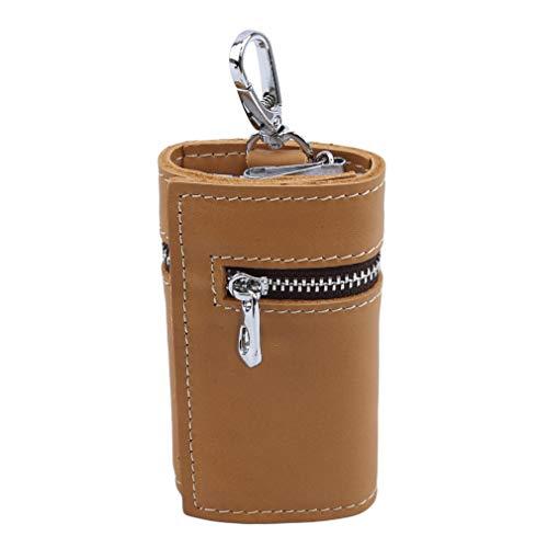 Yesiidor Key Case Wallet Keychain Key Holder Hanging Buckle Card Slot,brown Slot Car Keychain