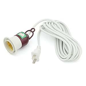 Ampoule led e27 douille de lampe avec interrupteur c ble de rallonge prise us plug 3 m 9 8 cm - Kit douille cable interrupteur ...