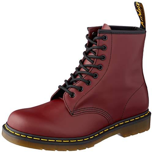 Dr. Martens 1460 Glatt, Erwachsene Unisex Stiefel,, Rot (Cherry Red), 42 EU -