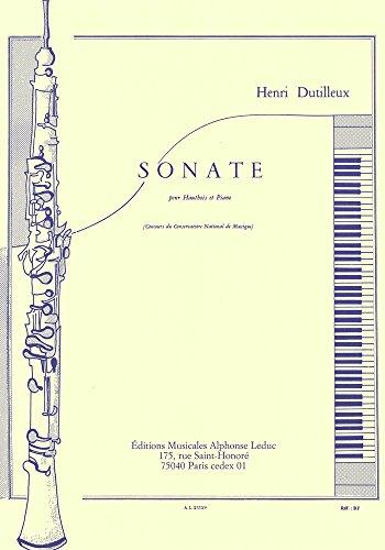 SONATE HAUTBOIS ET PIANO - Oboe Dutilleux Sonata
