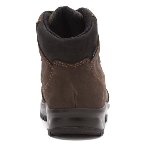 Finn Comfort Mens Tibet Leather Boots Noir - schiefer / schwarz