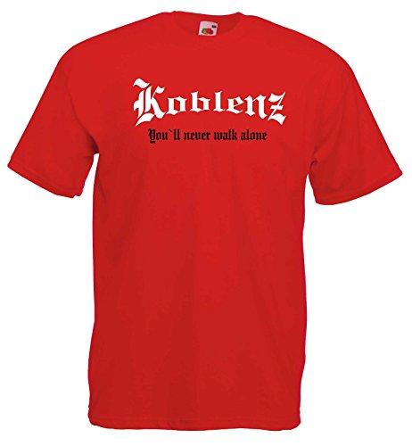 world-of-shirt Herren T-Shirt Koblenz You`ll never walk alone