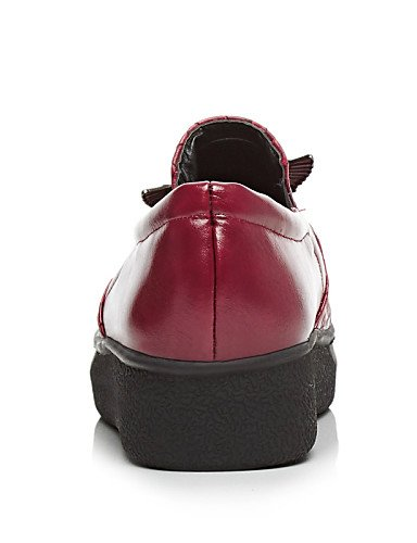 ZQ gyht Scarpe Donna - Mocassini - Formale - Punta arrotondata - Plateau - Finta pelle - Nero / Rosso / Argento , black-us5.5 / eu36 / uk3.5 / cn35 , black-us5.5 / eu36 / uk3.5 / cn35 red-us9 / eu40 / uk7 / cn41