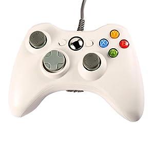 Wired USB Game Pad Controller Gamepad Joystick für Microsoft Xbox 360 PC Weiß
