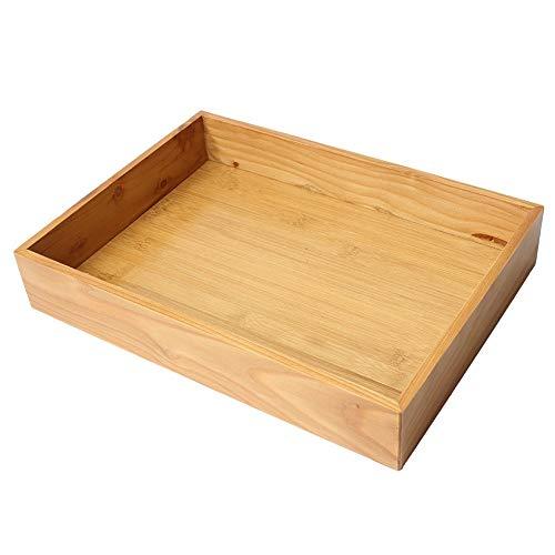 Milopon Aufbewahrungskiste Holzkiste Holzbox Ordnungsbox Vintage Dekokiste Allzweckkiste Holzkasten 33.5 * 24.5 * 6 cm