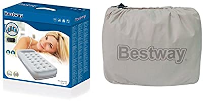 Bestway Restaira Premium Air Bed with Built-In Electric Pump and Pillow - cheap UK light shop.