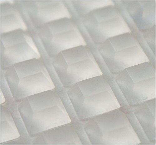 3M-Gummifüße für Elektronik und Heimwerken oder zum Schutz von Möbeln vor Kratzern, besonders groß, transparent, quadratisch, 15 x 15 mm, 5 mm hoch, selbstklebend, rutschfest, aus Silikon, trapezförmig