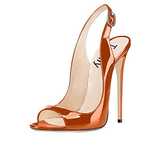 Trusify Donna 12cm EU 34-46 Trucost tacco a spillo 12CM Synthetic Sandali Marrone