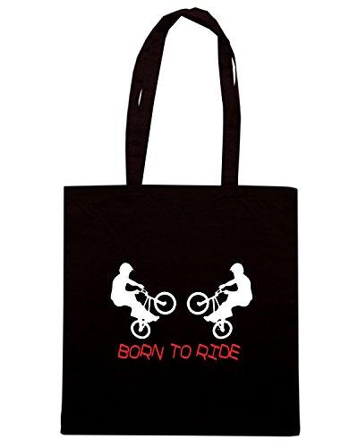 T-Shirtshock - Borsa Shopping TR0023 Born to Ride T-Shirt Nero