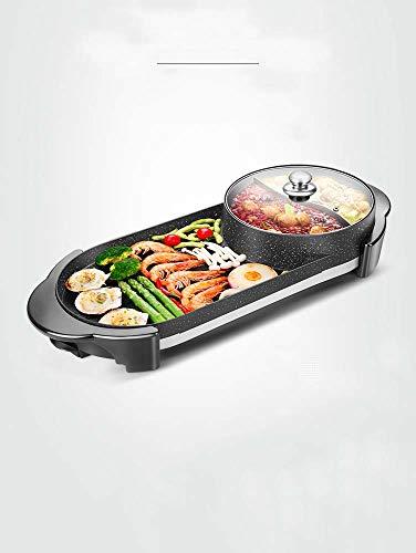 MKXF Maifanshi Elektrogrill Nach Hause Rauchfreie Elektrische Backform Antihaft-Grillmaschine Braten Hot Pot Einen Topf Hot Pot