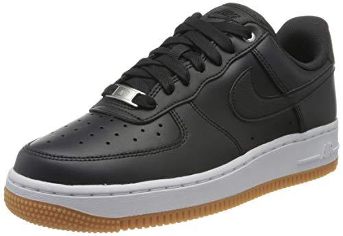 Nike Damen WMNS Air Force 1 '07 PRM Basketballschuhe, Schwarz (Off Noir/Off Noir/MTLC Silver/Gum Med Brown/White 008), 42 EU