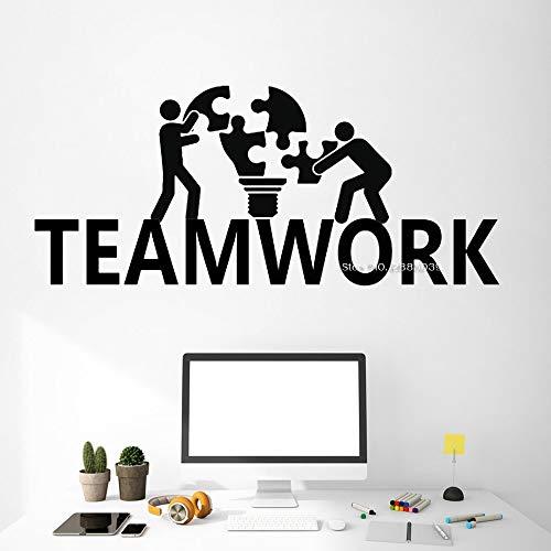 Qsdfcc Hot Teamwork Arbeit Idee Wandaufkleber Für Büro Vinyl Decor Art Murals Geschäftsräume Dekoration Motivation Tapeten x55cx24cm