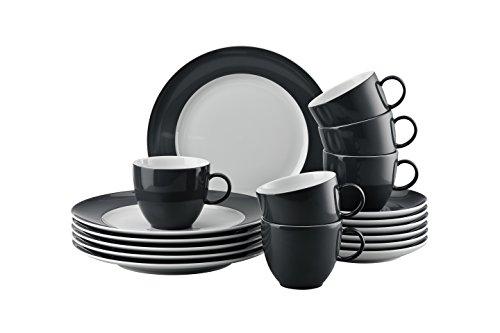 Thomas 10850-408532-28352 Sunny Day Grey Kaffeeset 18-teilig Kaffeeset, Porzellan, Grey, 38x28x28...