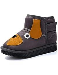 Botas de Nieve de los niños otoño e Invierno cómodo bebé de Dibujos Animados más Terciopelo Zapatos de algodón cálido niños y niñas Botas Cortas Casuales bebé Zapatos de algodón de niño