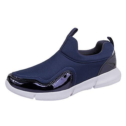DAY.LIN Hommes Femmes Couples Liquidation Nouveau Mesh Chaussures Casual Confortable Respirant Running Chaussures De Sport en Plein Air De Mode Baskets(46,Bleu)