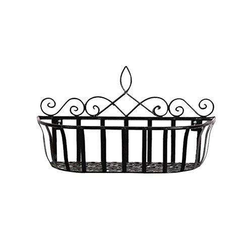 biback Hängender Korb für Draht-Wand-Gitter-Platte, an der Wand befestigter Betriebsspeicher-Halter, hängender Blumenkorb für Hauptwohnzimmer-Balkon