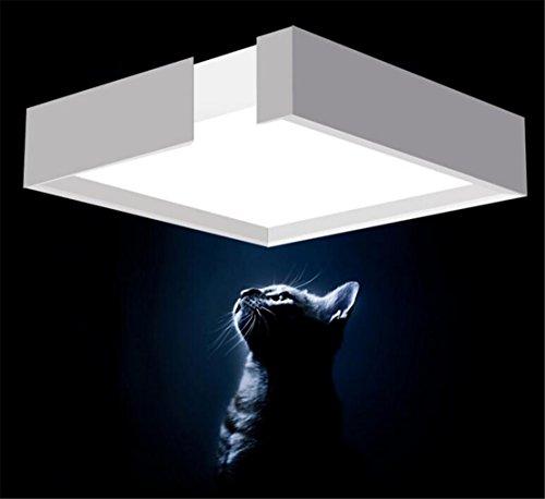 Wohnzimmerlampe deckenleuchte wohnzimmer eckig weiss for Deckenlampe eckig led