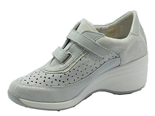 MELLUSO  09343 Ghiaccio, Damen Sneaker Ghiaccio