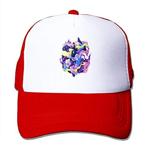 dfegyfr Kreativer Stereo Splash Print einstellbar Mesh Sport Trucker Hüte Baseball Caps Design2