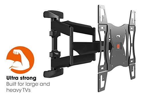 Vogel's BASE 45 L Ultrastarke TV-Wandhalterung für besonders größe (102-165 cm, 40-65 Zoll) oder schwere (max. 45 kg) Fernseher, 180° schwenkbar und neigbar, VESA max. 600 x 400, schwarz