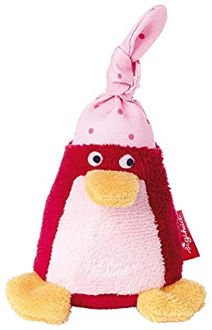 sigikid, Mädchen, Greifling und Rassel Pinguin, Rot/Rosa, 41183