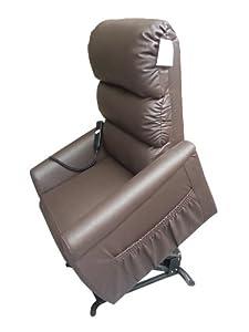 Joynson Holland Riser Recline Chair Faux Leather BROWN