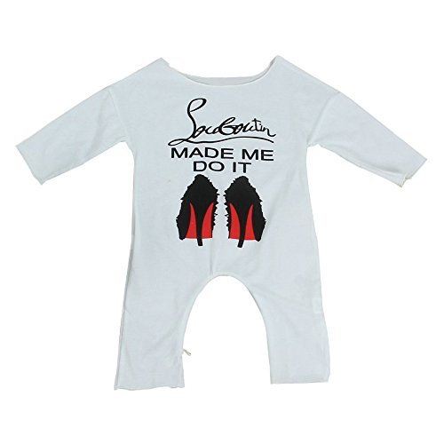 Lanlan Lange Ärmel Mädchen Overall Neugeborene Infant Baumwolle Outfits Kleidung Sommer Baby Strampler (Spandex Shorts Dickies)