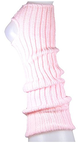 Stulpen Damen / Mädchen / Kinder - Ballettstulpen + Fersenloch - Tanzstulpen Beinstulpen Armstulpen Strick Weich Legwarmer (Kinder (ca. 36cm lang), rosa)