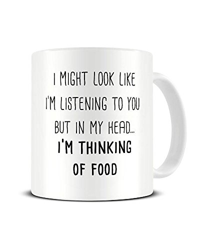 I Might Look Like I'm Listening to You But in My Head I'm Funky NE Ltd Keramik-Kaffeetasse mit...