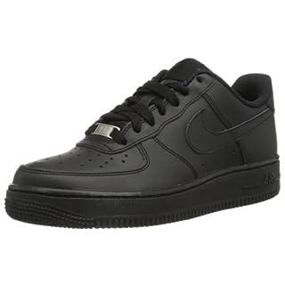 Nike Air Force 1 Gs 314192_Synthetik Unisex-Kinder Low-Top Sneaker, Schwarz (009 BLACK/BLACK-BLACK), 38 EU