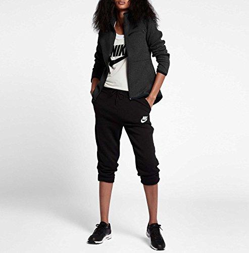Nike Damen Sportswear Hoodie Fz Ssnl Kapuzenpullover Black Heather/Black
