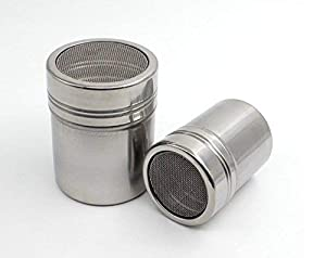 Waymeduo Functional Stainless Steel Chocolate Shaker Icing Sugar Salt Cocoa Flour Coffee Sifter