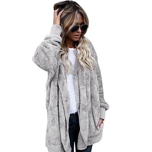 973e65a5697b TianWlio Damen Strickjacken Frauen Hooded Langer Mantel Jacke Hoodies Parka  Outwear Strickjacke Mantel