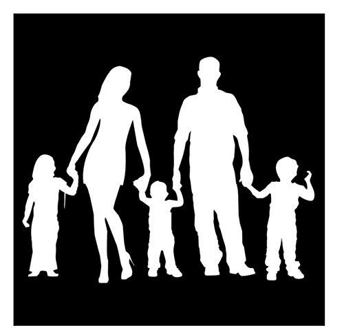 19,7 * 15,2 CM Familie Persönlichkeit Kombiniert Auto Aufkleber Stilvolle Auto Abdeckung Scratch Dekorative Abziehbilder Zubehör/3PCS (Halloween Vinyl Scratch)