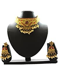 Halltree Padmavati Gold Plated Necklace With Earing For Girls And Women Latest Design And Best Price