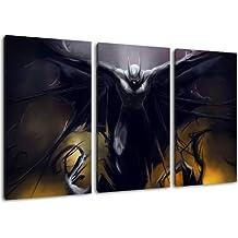 Image Batman, 3 pièces sur toile (taille totale: 120x80 cm), art de haute qualité d'impression comme une fresque. Moins cher qu'une peinture à l'huile! ATTENTION NO affiche!