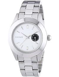 DKNY  NY2130 - Reloj de cuarzo para mujer, con correa de acero inoxidable, color plateado
