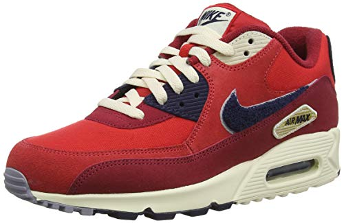 hot sale online 7d9ad 5661e Nike Air MAX 90 Premium Se, Zapatillas de Gimnasia para Hombre, Rojo  (University