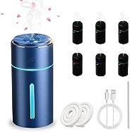 جهاز ترطيب الهواء من فيجيشيلي يعمل عبر USB ويتميز بتوزيع الزيوت العطرية، يعمل بالموجات فوق الصوتية في السيارات
